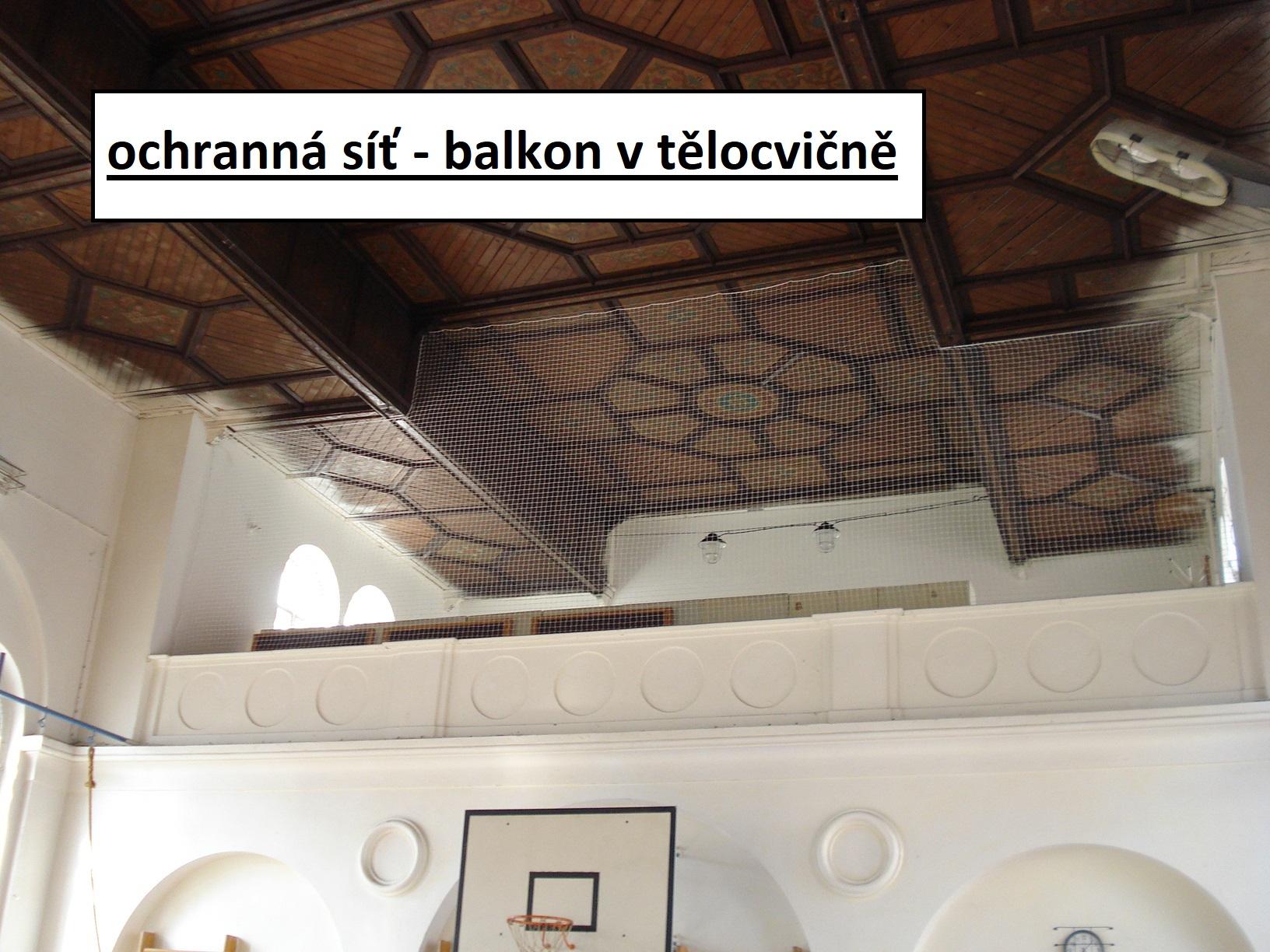 ochranná síť - pod stropy