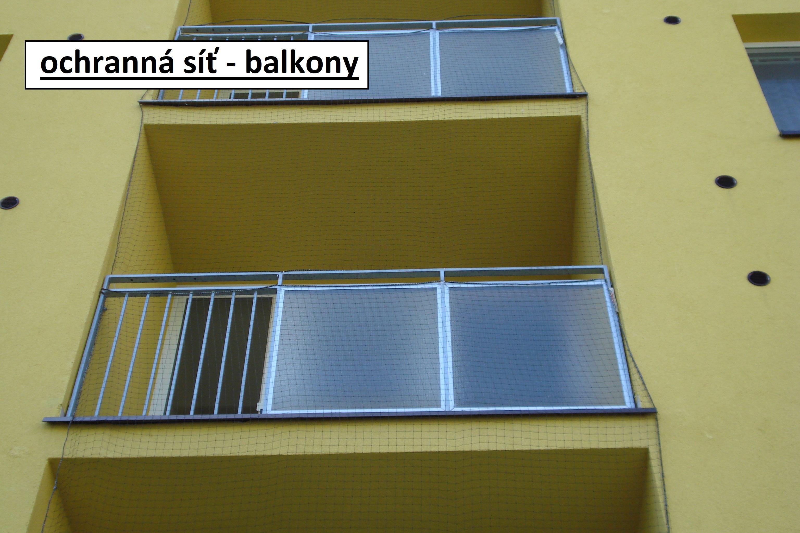 ochranná síť - balkonu
