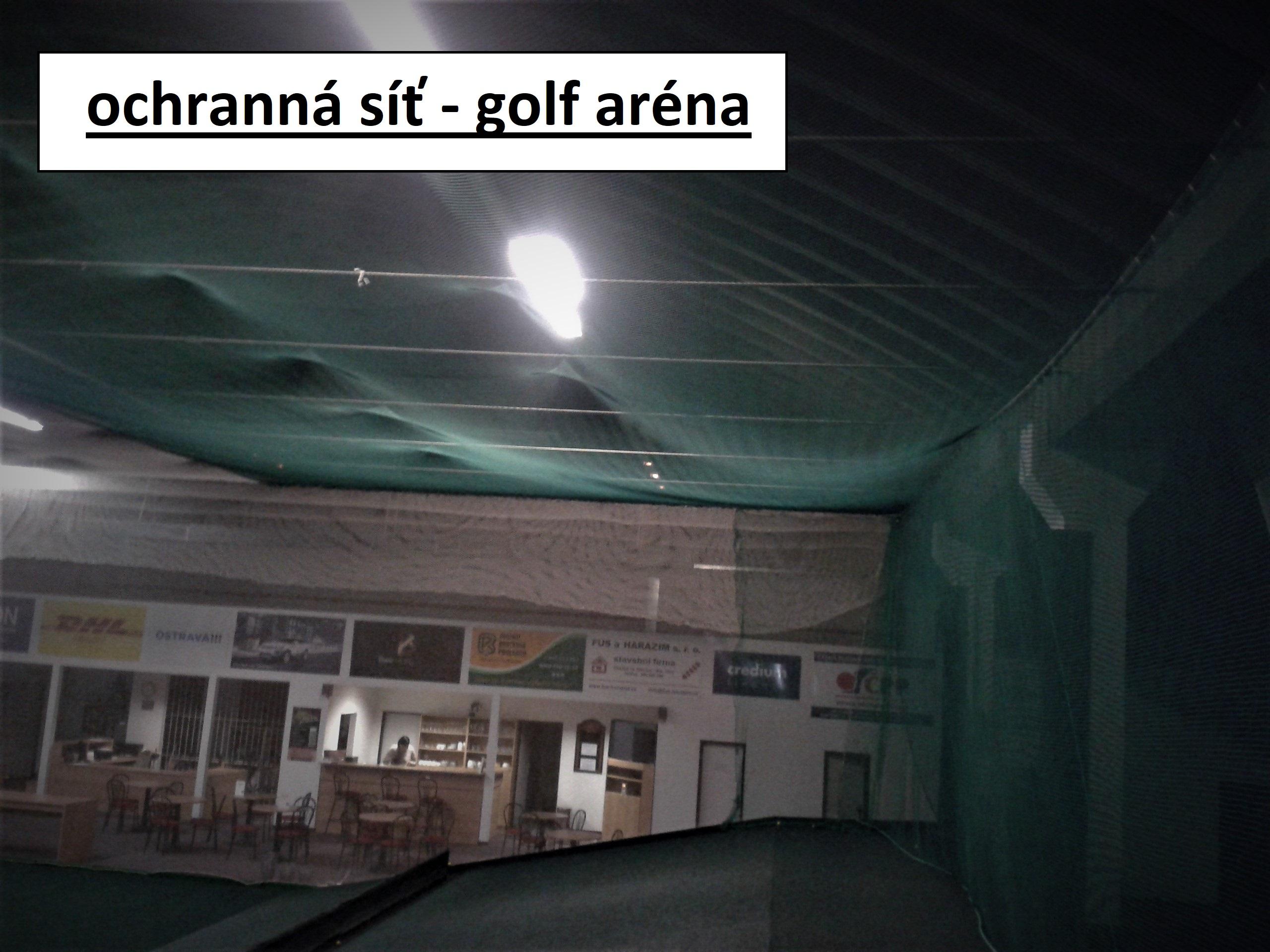 ochranná síť - golfová aréna