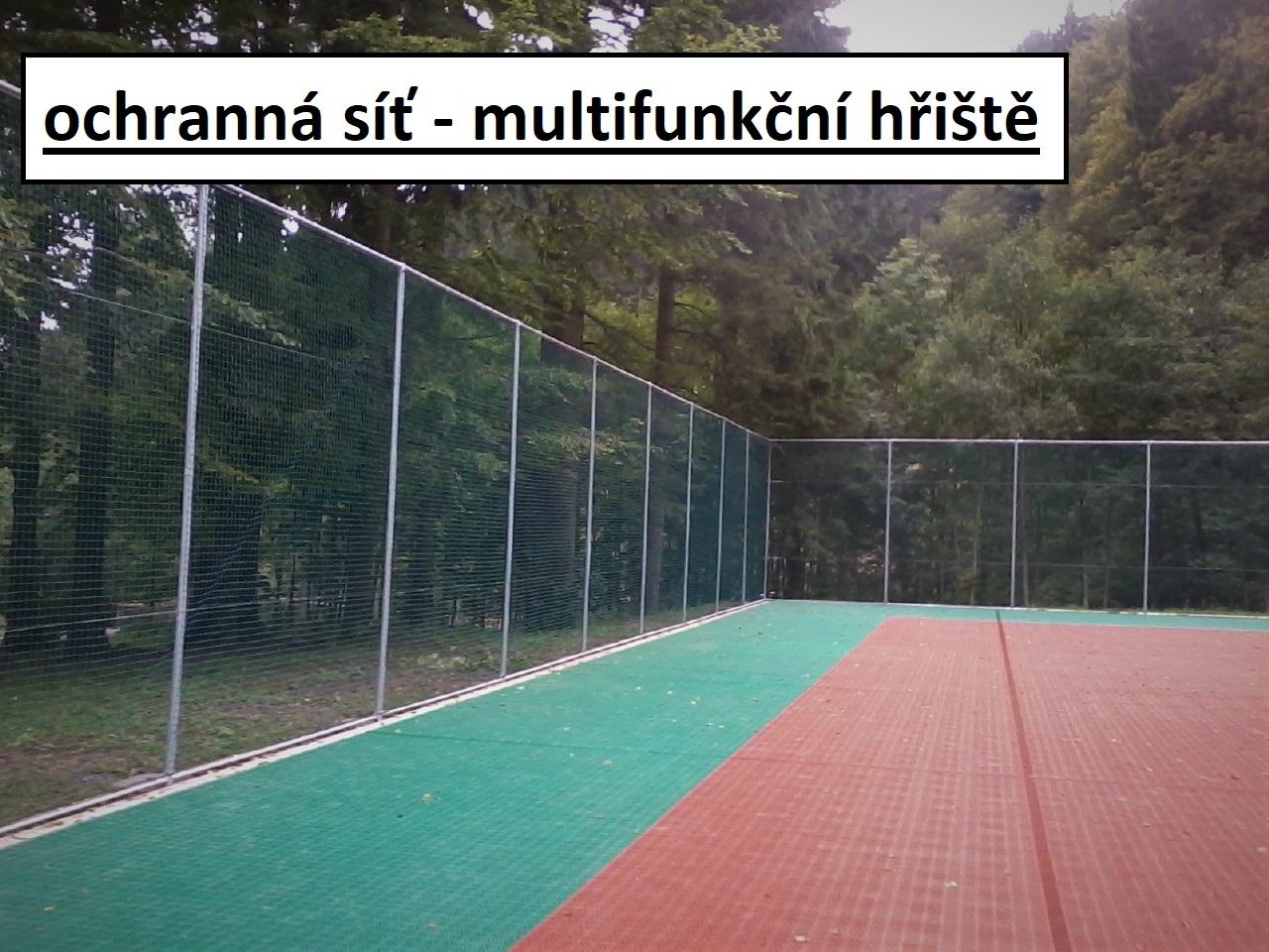 ochranná síť - multifunkční hřiště