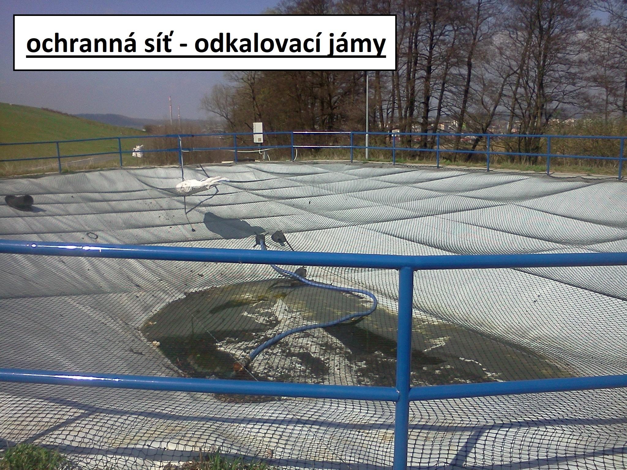 ochranná síť - jímky a nádrže a bazény