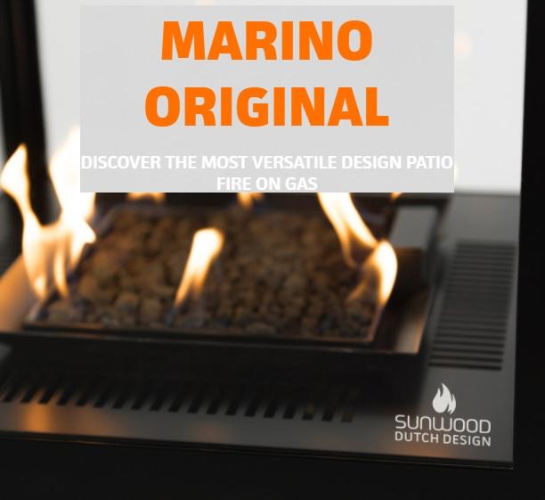 Terasový ohřívač sunwood - černý