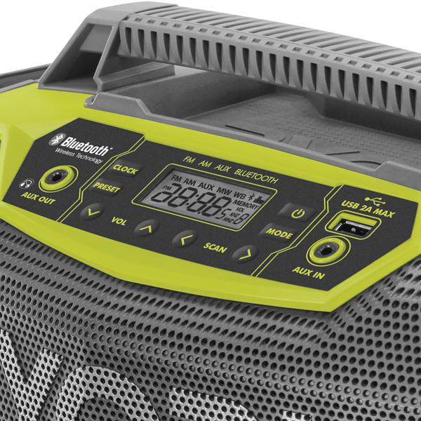Ryobi aku 18 V rádio s Bluetooth