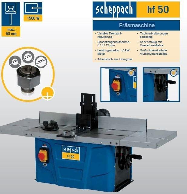 Stolová frézka HF 50 - Scheppach