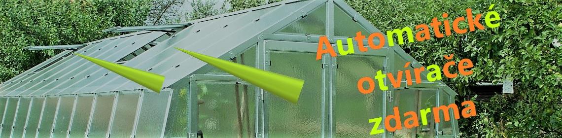 Otvírače skleníkových oken zdarma